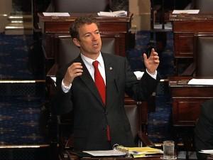 Rand Paul on the floor of the Senate, 3/6/13.